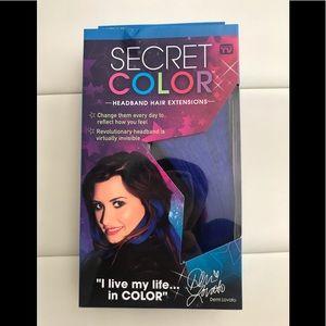 "Secret Color Headband Hair Extensions Blue 14"""